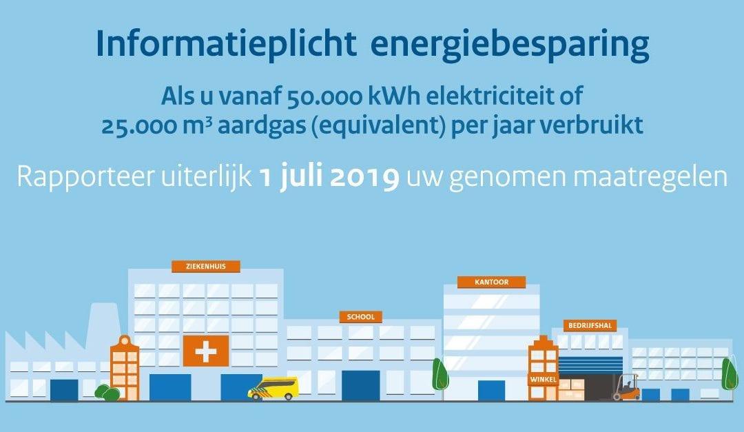 Vanaf 1 juli 2019 geldt voor ondernemers de Informatieplicht energiebesparing